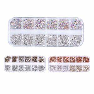 HWY 3 boîtes Strass ongle Maquillage Visage Corps Cheveux décoration des Ongles pour la décoration des Ongles, Le Maquillage et la manucure Strass Nail Art