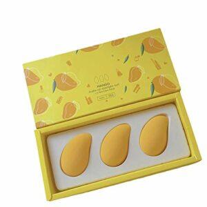 iuyomhes Petit Oeuf De Beauté De Mangue, Oeuf De Maquillage De Fruit De Non-Latex, Sec Et Humide Deux Ne Mangent Pas La Poudre Ultra-Douce Pounce De Poudre