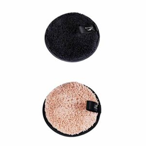 joyMerit 2pcs Qualité Fibre Fluff Rond Remover Pad Nettoyant Visage Beauté Maquillage Bouffée