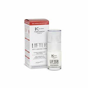K'Derm – Lifter Fluide Correcteur Anti-Rides pour les Yeux – Soin Anti-Age Contour des Yeux aux Bio-Peptides de Kappa-Elastine – Flacon-Pompe – 15ml