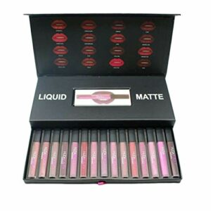 KKAAMYND 16pcs Big Tube Non-Fading Matte Lip Gloss Lip Cosmetic Velvet Lip Gloss Maquillage Soyeux Lipgloss Smooth Makeup Tool, (Multicolore), Compact et Portable: étant si Mini et léger, ce Produit