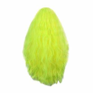Koojawind Perruques Charmantes De Partie De Cosplay De Vert Fluorescent, Perruques OnduléEs De Bob De Cheveux EnracinéS Avant De Dentelle