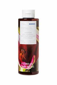 Korres Gel Douche Naturel à l'Aloe pH Neutre Nettoyant Doux Hydrate Fruit de la Passion 250 ml 1 Unité