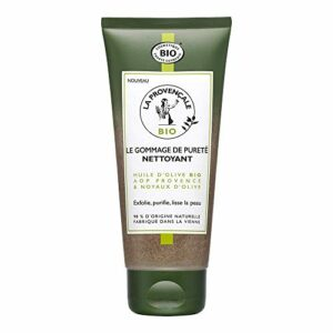 La Provençale Bio – Le Gommage de Pureté Nettoyant – Huile d'Olive Bio AOP Provence et Noyaux d'Olive certifié Cosmebio – Pour Peaux Mixtes – 100 ml