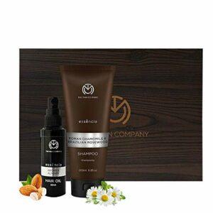 La société Man Hair Flair Coffret cadeau pour les hommes (Shampooing, Argan et huile d'amande cheveux)