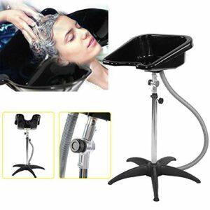 Lavabo pour le visage, lavabo haute journée de beauté, lavabo réglable en hauteur, lavabo portable, shampooing, outils de salon de soins de bol de soins capillaires