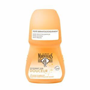 Le Petit Marseillais Déodorant Soin Douceur 24h Huile Abricot Bille 50 ml – Lot de 2