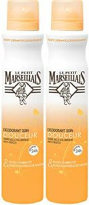 Le Petit Marseillais Déodorant Soin Douceur 24h Huile Abricot Spray 200 ml – Lot de 2