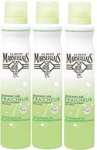 Le Petit Marseillais Déodorant Soin Fraicheur 24H Sauge/Feuil The Spray 200 – Lot de 3