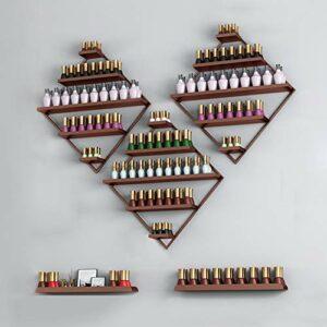 LHY-Shelf LJ Grand étagère à Ongles en Caoutchouc à 5 Couches en Fer forgé Organisateur de Vernis à Ongles Mural présentoir de Salon de manucure présentoir Centre de beauté