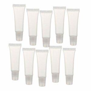 Lip Gloss Tubes, 8g Baume À Lèvres Clair Vider Containers Doux Tubes Maquillage Box Pour Femmes Filles 36 Pcs