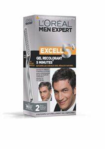 L'Oréal Men Expert Excell 5 Gel-Crème Recolorant pour Homme, Coloration des Cheveux Gris & Blancs, Sans Ammoniaque, Brun Profond Naturel (2)