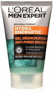 L'Oréal Men Expert – Gel Désincrustant Anti-Pores Encrassés -Soin du Visage – Hydra Energetic – 100 mL
