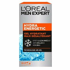 L'Oréal Men Expert – Gel Hydratant Maxi Désaltérant pour Homme – Soin du Visage – Hydra Energetic – 50 ml