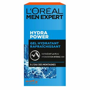 L'Oréal Men Expert – Gel Hydratant & Rafraîchissant pour Homme – Soin du Visage – Hydra Power – 50 ml