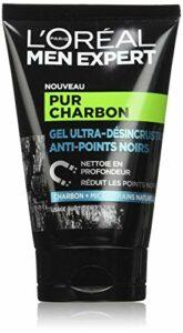 L'Oréal Men Expert – Gel Ultra-Désincrustant Anti-Points Noirs pour Homme – Soin du Visage – Pur Charbon – 100 ml