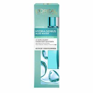 L'Oréal Paris – Soin Liquide Hydratant Visage – Peaux Normales à Mixtes – Hydra Genius – 70 ml