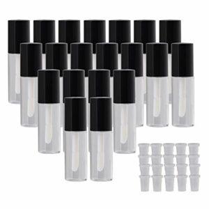 Lot de 10 tubes vides de 3,8 ml pour gloss à lèvres ou maquillage Noir