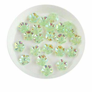Lot de 30 fleurs en résine 3D pour décoration d'ongles Vert 8 mm