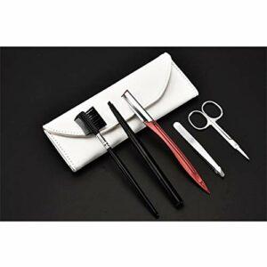 LTZB Produits de beauté soins de la peau Outils de maquillage Outils de maquillage portables de beauté en acier inoxydable (Sourcils peigne + Sourcils Ciseaux + Sourcils Couteau + Sourcils Clip + bros