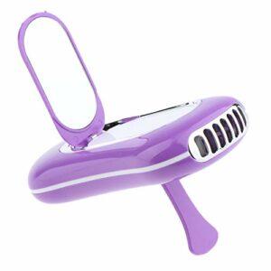 MagiDeal USB Mini Ventilateur Air Conditionné avec Miroir pour Extensions de Cils – Violet