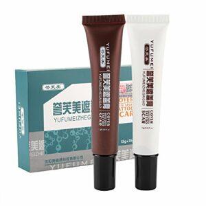 Maquillage anti-cernes, anti-cernes pour le visage, anti-cernes, kit de maquillage anti-cernes à effet rapide dans les couleurs marron et blanc. Peut couvrir les cicatrices et les tatouages, correcteu