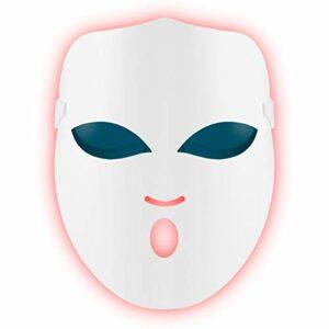 Masque de luminothérapie à LED Dispositif de lampe de photothérapie Rajeunissement de la peau Spectral Traitement de l'acné Anti-rides (pas sans fil, fonctionne uniquement lorsqu'il est branché)