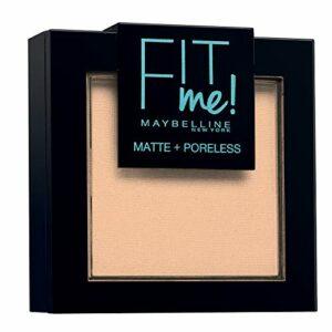 Maybelline New-York – Poudre Compacte Fit Me Matte & Poreless – Peaux normales à grasses – 115 Ivoire – 9 g