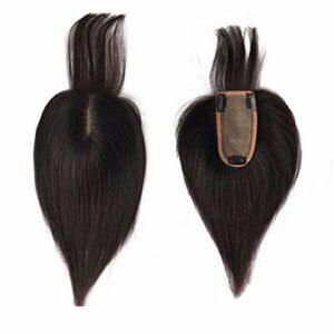Morceaux de Cheveux avec Une Frange pour Les Femmes avec Perte de Cheveux 3 X 5 Pouces pour Femmes Base de Soie Topper de Cheveux Humains Accessoires de Maquillage