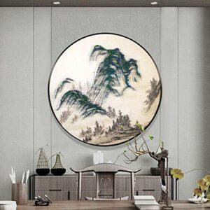 MQW Peinture à ongles chinoise pour décoration d'ongles – Ronde – En trois dimensions – 60 x 60 cm