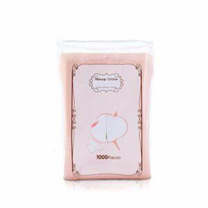 Non-tissé Déchargement Coton Feuille de Maquillage Coton Pad 1000PCS Fiche de beauté Exfoliant Lotion de Nettoyage Application Retrait Nettoyer (Color : White, Size : S)