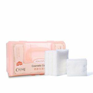 Non-tissé Remover Doux for la Peau délicats Boxed 500 Piece Outils de beauté de Maquillage de Coton (Color : White, Size : M)
