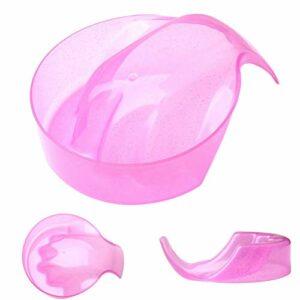 nuoshen Bol de trempage pour nail art, bol de soin des mains, bol de trempage à la main, plateau de retrait pour nail art (rose)