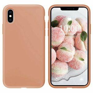 Oihxse Silicone TPU Gommage Case Compatible pour Huawei Honor 9 Coque Ultra Fine Souple Protection Housse Mignon Couleurs Bumper Étui Anti-Rayures Cover(Orange)