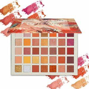 ONLYOILY 35 couleurs Palette Ombres à Paupière Ultra Shimmer Matte Pigmentée, Palette de Maquillage Fard à Paupière Palette Fard à Paupières, Poudre Imperméable Longue Durée Cadeau