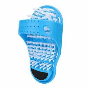 【𝐎𝐟𝐟𝐫𝐞 𝐁𝐥𝐚𝐜𝐤 𝐅𝐫𝐢𝐝𝐚𝒚】Pantoufle de massage, pantoufle exfoliante de pied de cheveux de brosse douce, pratique pour le massage exfoliant de spa à domicile
