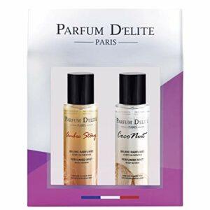 Parfum D'Elite Paris – Ambre Story & Coconut – Coffret Femme Brume Parfumée Corps et Cheveux – Produit de Beauté 200ml