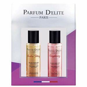 Parfum D'Elite Paris – Ambre Story & Raspberry – Coffret Cadeau Femme Brume Parfumée Corps & Cheveux Format Voyage 200ml