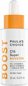 Paula's Choice C15 Vitamine C Super Booster – Anti-Âge Sérum avec 15% Vitamine C – Estompe les Taches de Pigmentation pour une Peau Terne – avec Acide Férulique – Tous Types de Peaux – 20 ml