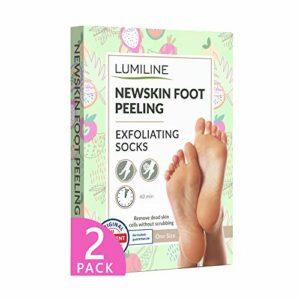 Peeling pied baby foot masque pied chaussette exfoliante pied soin pied peau morte callus peeling pieds 2 paires (jusqu'à la taille 43)