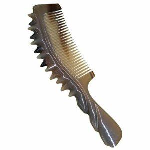 Peigne À Cheveux Fines Dents Peigne Cheveux Authentique Corne Peigne Épaississement Massage Ongle WEIYV (Taille : 18.5cm*5.5cm*1.3cm)
