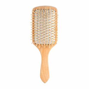 Peigne à coussin d'air 2 couleurs, brosses à cheveux professionnelles pour cheveux épais et bouclés bouclés, cheveux secs et endommagés, brosse à cheveux en bois pour pagaie(blanc)