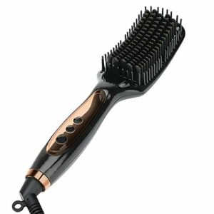 Peigne de mode Défrisage peigne – Chauffage électrique infrarouge Fer brosse Redresser et cheveux bouclés à double usage Artifact ne coûte rien cheveux Anion brosse à cheveux professionnel Styling out