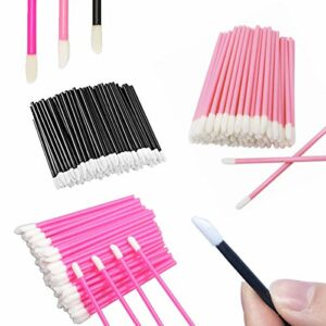 Pinceau à LÈVres,CHENKEE 300 pcs Lips Jetable Balm Makeup Beauty Tool Lèvres Gloss Applicateurs de Maquillage Pinceau Une Brosse Lèvres en Fibre pour le Maquillage Oral Clean et Dental