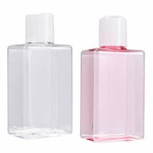Pixnor 2 Pcs Bouteille de Lotion Carrée 150 Ml Rose Blanc Distributeur de Crème Liquide Maquillage Cosmétique Articles de Toilette Lotion Huile Essentielle Conteneurs de Parfum