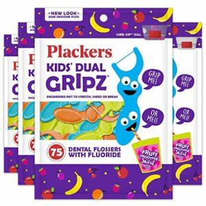 Plackers enfants dentaires, DE 75(lot de 4)