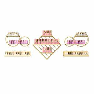 Présentoirs muraux pour vernis à ongles, supports de rangement pour vernis à ongles multicouches sur le mur, supports de rangement pour cosmétiques pour salons de beauté et salons de manucure