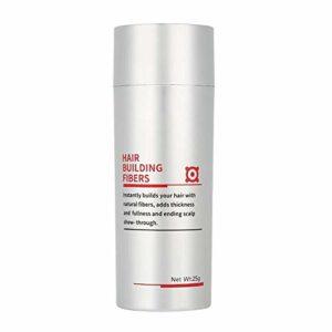 Qkiss Hair Loss Concealer, Poudre de Fibre de Cheveux, Poudre Capillaire de Cheveux Homme et Femme d'épaississant Fibre Coiffante Salon de Coiffure Outil de Maquillage en Poudre(blanc)