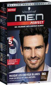 Schwarzkopf – Men Perfect – Gel Colorant Anti-Cheveux Blancs – Brun Naturel 80
