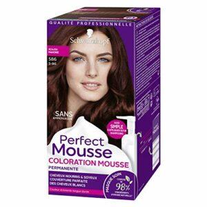 Schwarzkopf – Perfect Mousse – Coloration Cheveux – Mousse Permanente sans Ammoniaque – Acajou 586